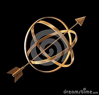 Golden instrument.