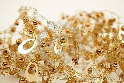Golden jewel messy wired texture balls and oval