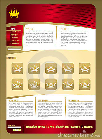 Golden  jewelery web page template