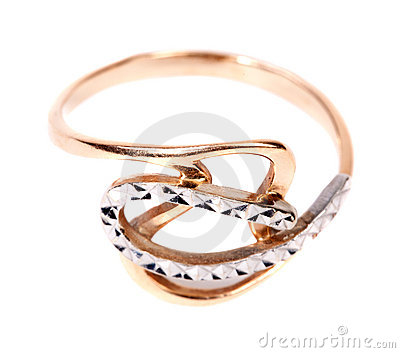 Golden jewellery ring