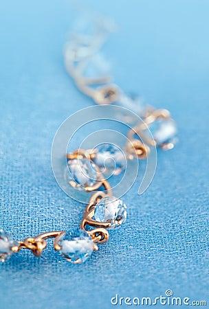 Jewelry bracelet with blue topaz
