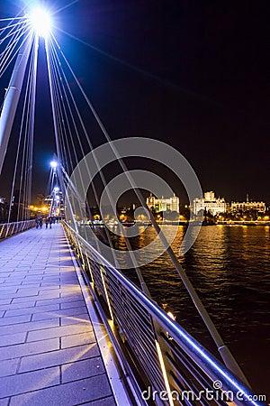 Golden Jubilee Bridge Editorial Stock Photo