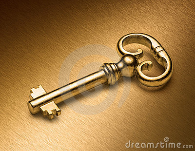 Golden Key On Gold