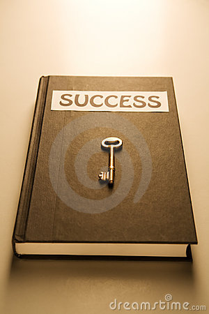 Golden key and success book
