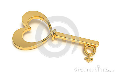 Golden key to woman heart