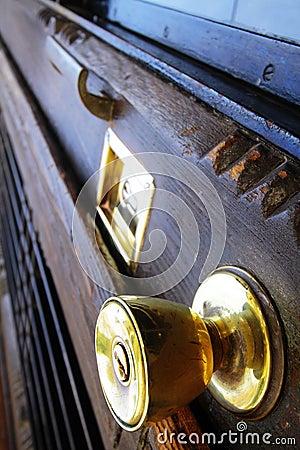 Golden knob