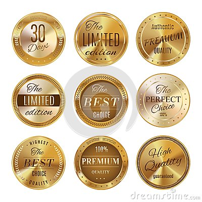 Free Golden Labels Set Stock Photos - 51287763