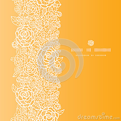 Free Golden Lace Roses Vertical Seamless Pattern Royalty Free Stock Images - 31903469