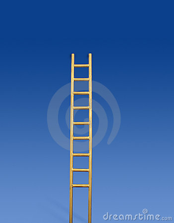 Free Golden Ladder Royalty Free Stock Photo - 3456455