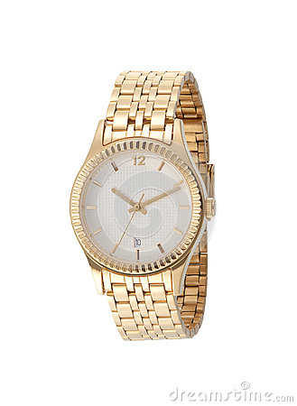 A golden lady wristwatch