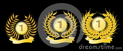 Golden laurel wreaths