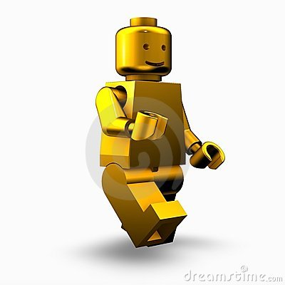 Golden lego man Editorial Image
