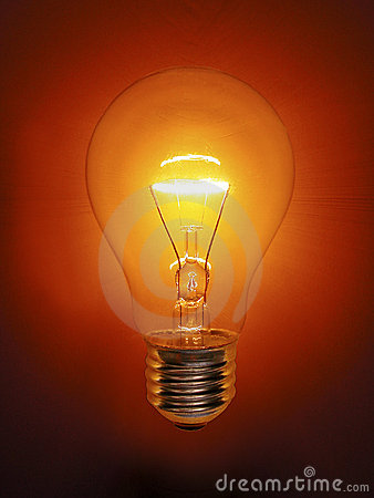 Golden Light Bulb Electric Stock Photo Image 4974440