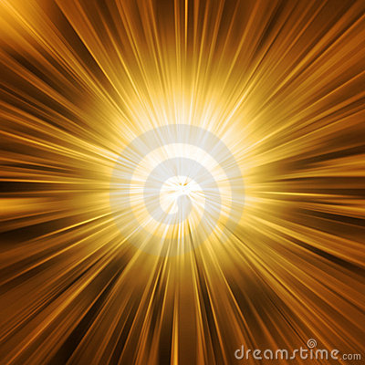 Free Golden Light Burst Royalty Free Stock Photo - 12447925