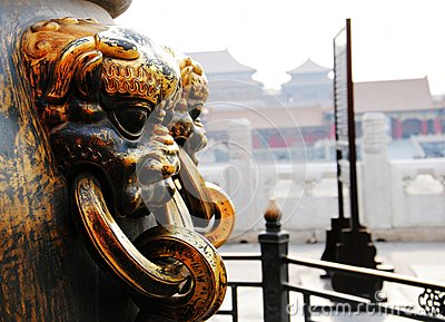 Golden Lion at the Forbidden City
