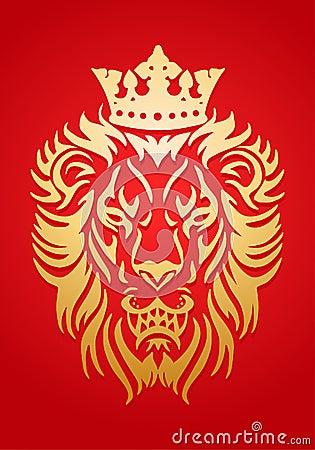 Golden Lion King Stock...
