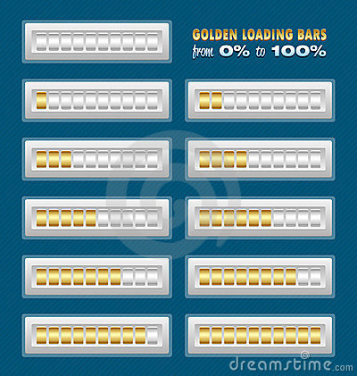 Golden loading bars
