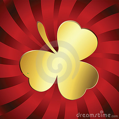 Golden lucky clover