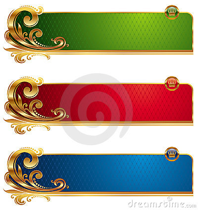 Golden luxury banners