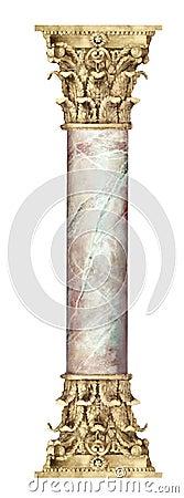 Free Golden Marble Column Royalty Free Stock Photos - 503728