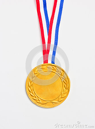 Golden medal.