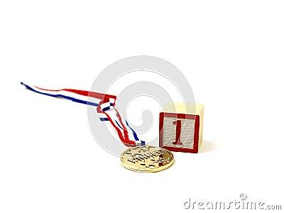 A golden medal for number one!