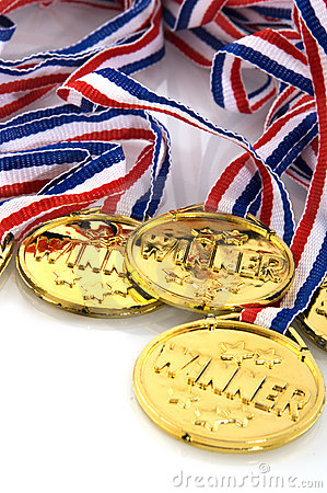 Free Golden Medals Stock Photography - 7909912