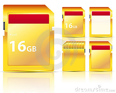 Golden memory card