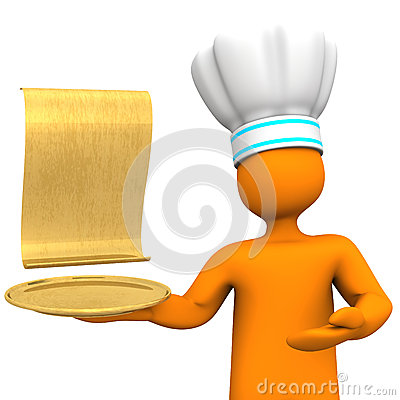 Golden Menu Card
