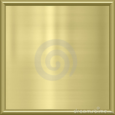 Golden metal award frame