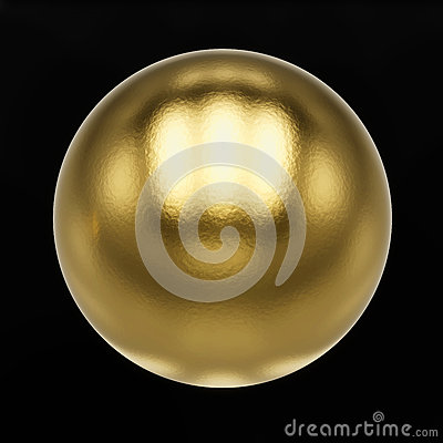 Golden metal button