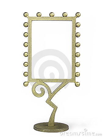 Golden metal frame