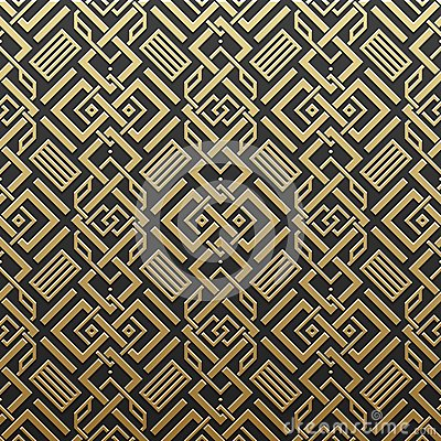 Free Golden Metallic Background With Seamless Pattern Stock Images - 85690964