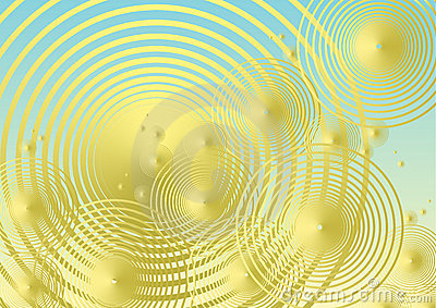 Golden metallic bubble background