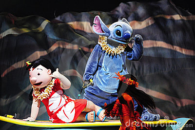 The Golden Micky Show - lilo & stitch Editorial Stock Image