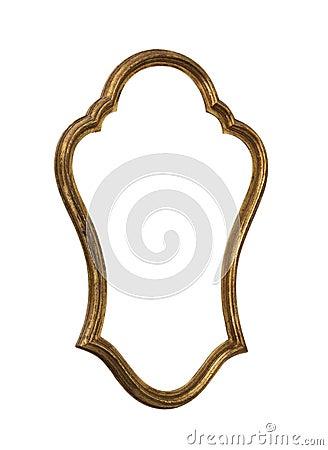 Golden Mirror Frame