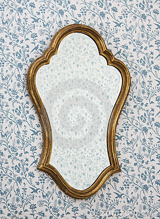 Free Golden Mirror Frame Royalty Free Stock Images - 12969109