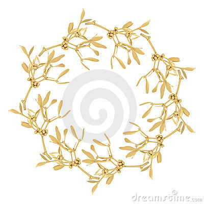 Golden Mistletoe Garland