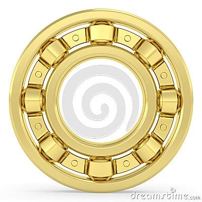Golden mit Nachdruck auf weißen Hintergrund