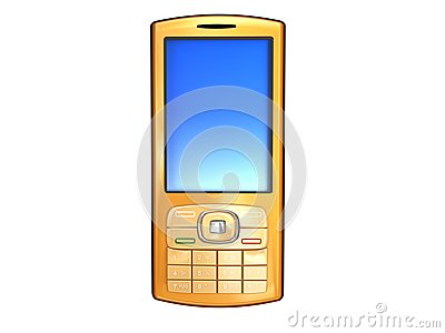 Golden mobile phone
