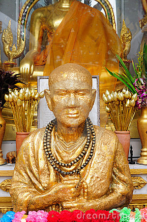 Golden Monk Statue in Bangkok, Thailand