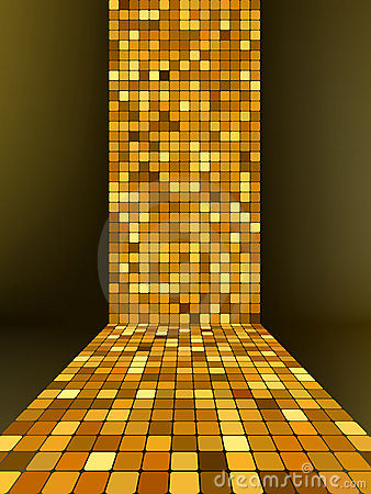 Golden mosaic, gold background. EPS 8