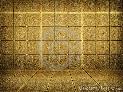 Golden mosaic room