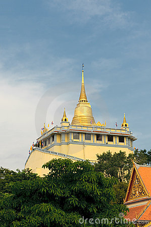 Golden mount temple, bangkok, thailand