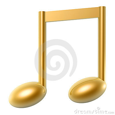 Golden music note