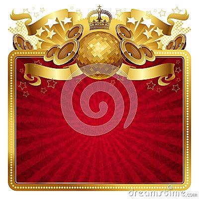 Golden musical frame