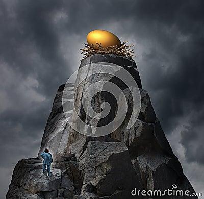 Free Golden Nest Egg Concept Royalty Free Stock Photo - 44317185