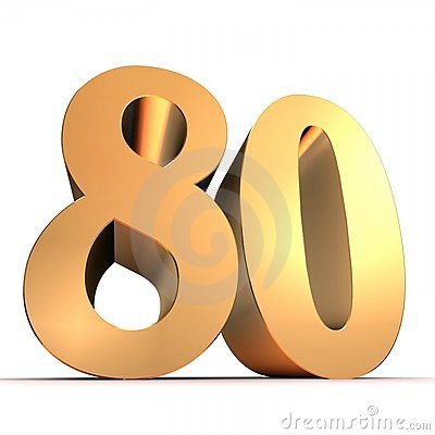 Golden number - 80
