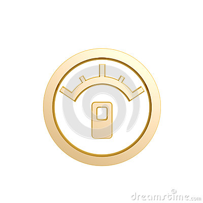 Golden oil meter symbol