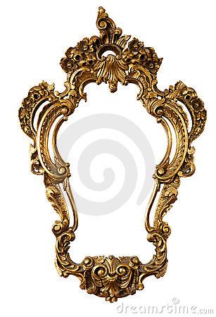 Free Golden Old Frame Of A Mirror (No3) Royalty Free Stock Photo - 19118715